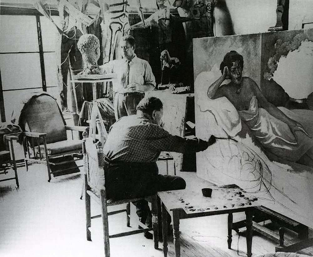 Diego in his studio (courtesy of Pinterest).