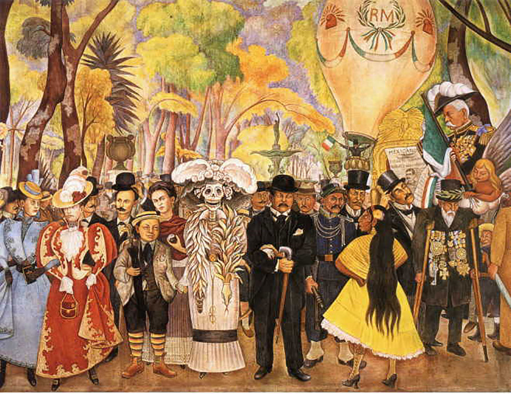 Diego Rivera: Dream of a Sunday Afternoon in Alameda Park (1946-47):  mexicoescultura.com .