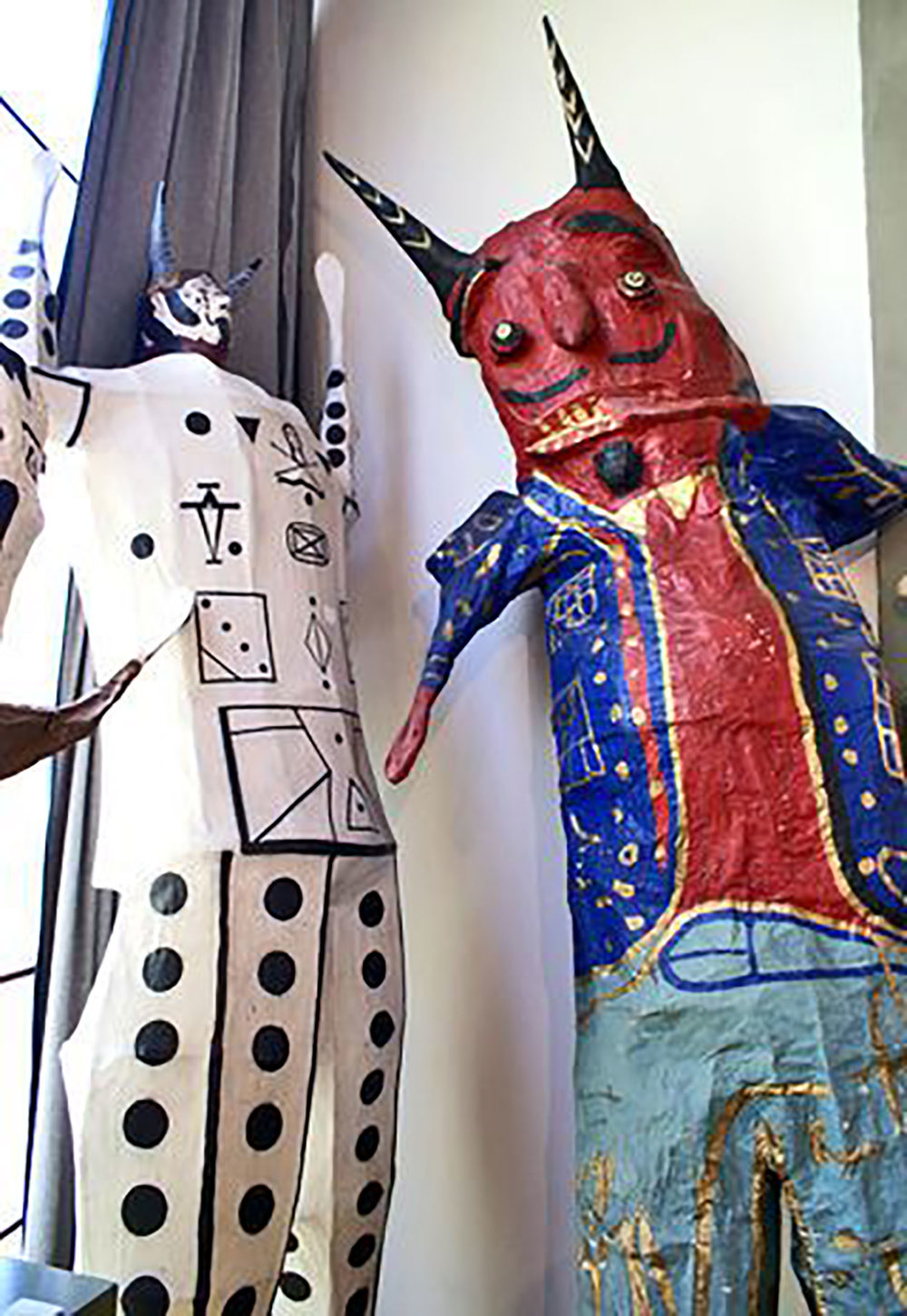 Judas figures in Diego's studio.