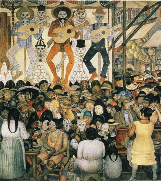 Diego Rivera: The Day of the Dead, 1924:  wikiart.org .