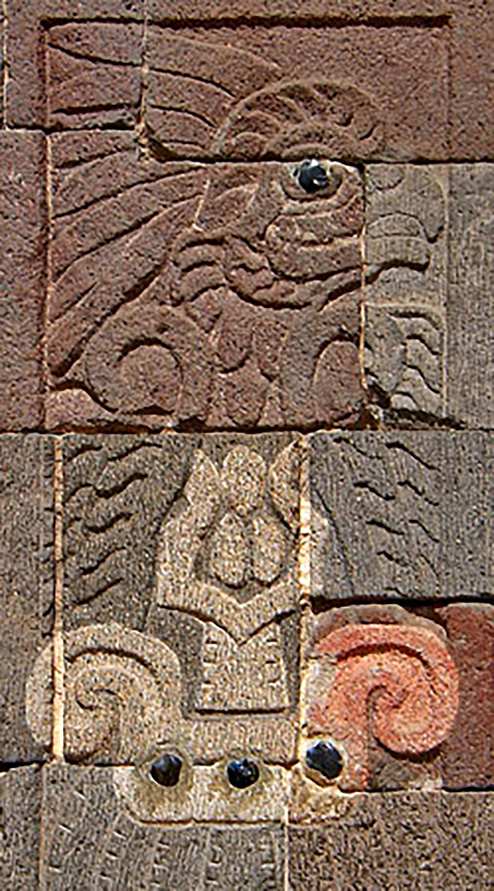 The owl on the pillars of the Palace of Quetzalpapalotl portray warriors, priests and its ruling elite:  uncoveredhistory.com .