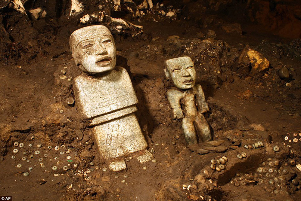 Sculptures in the tunnel, founders of the city?:  theguardian.com .