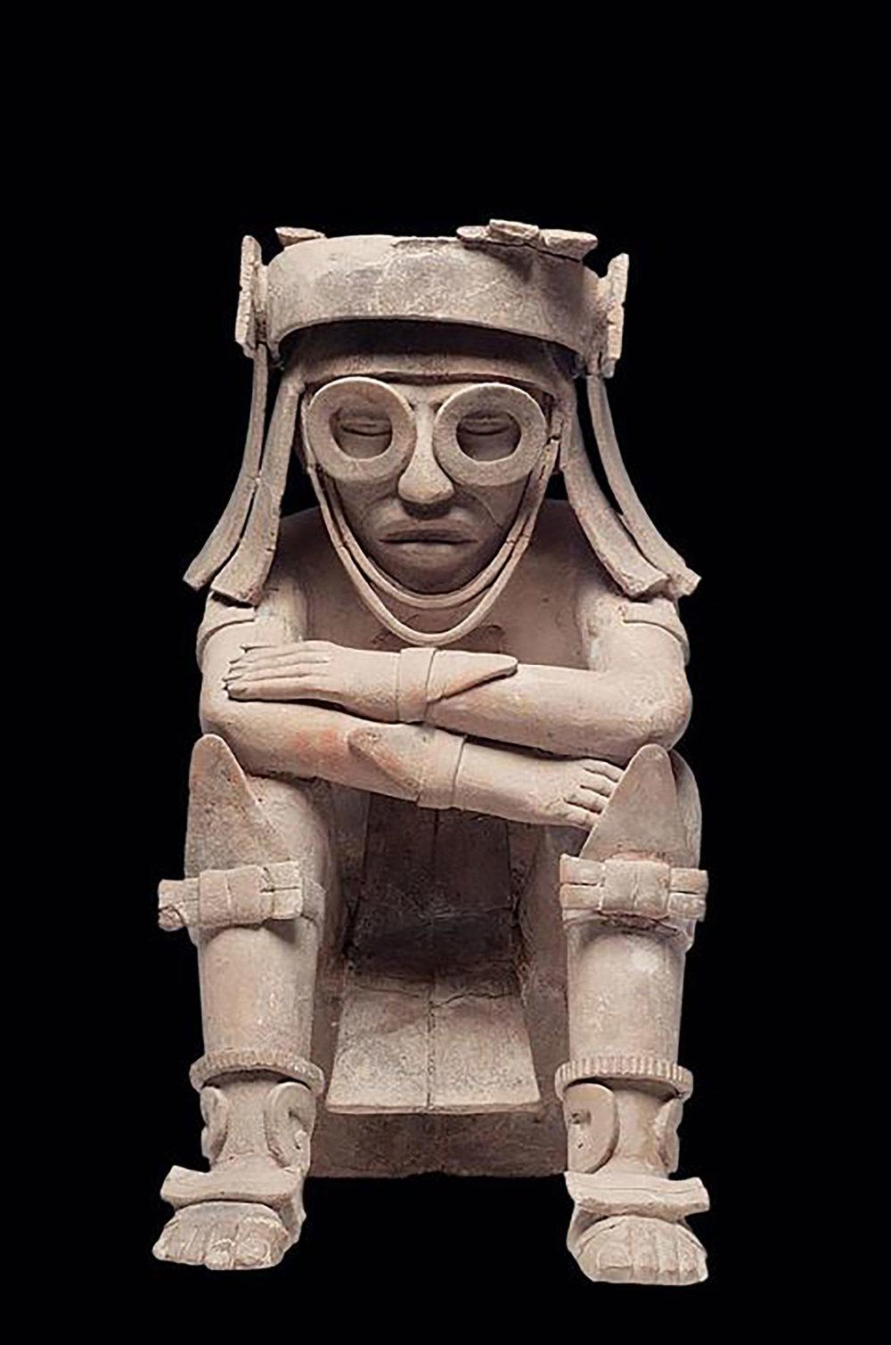 Clay figure from Veracruz (600-900 AD). Source:  mexicolore.co.uk .