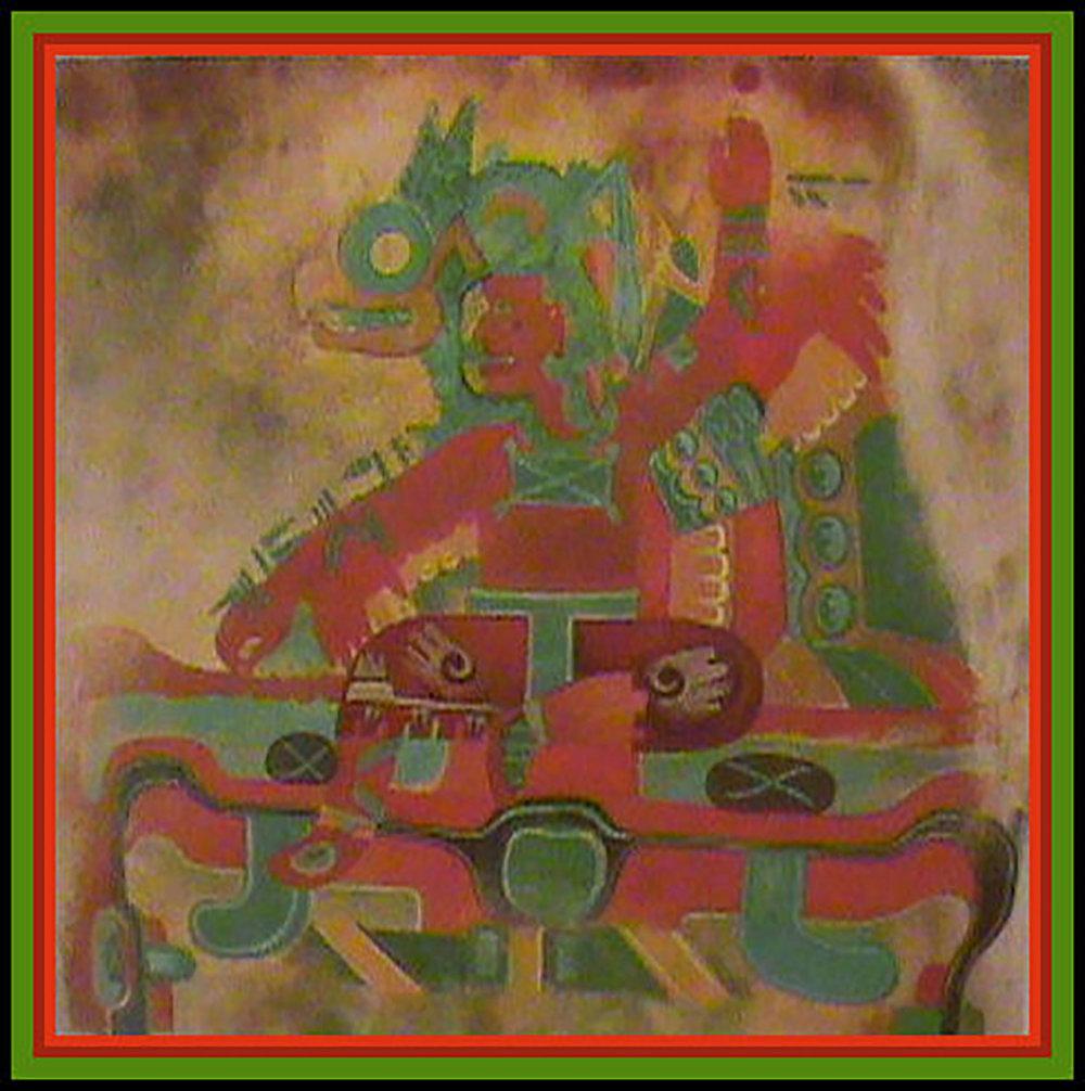 Olmec rock painting (900-500 BC):  mesoamericancalendarstudies.com .