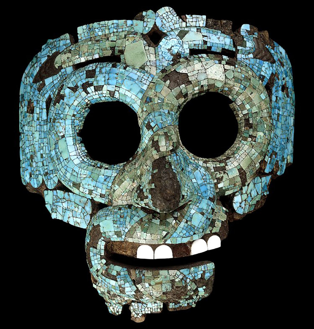 Mixtec mosaic serpent mask of Quetzalcóatl/Tláloc, 15th-16th century AD:  smarthistory.org .
