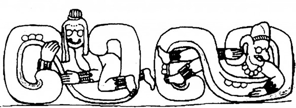 Drawing of Venus symbol by D. Wirth, from the doorway of Temple 22 in Copán, Honduras:  mormoninterpreter.com .