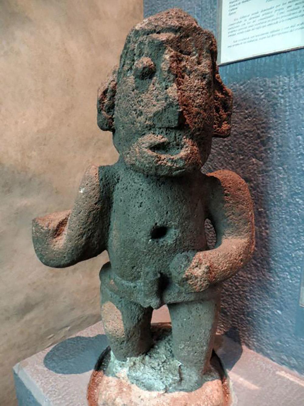 Tlahuica stone sculpture, from  Tripadvisor .