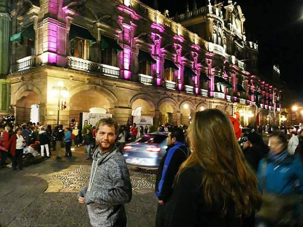 Harry in Puebla.