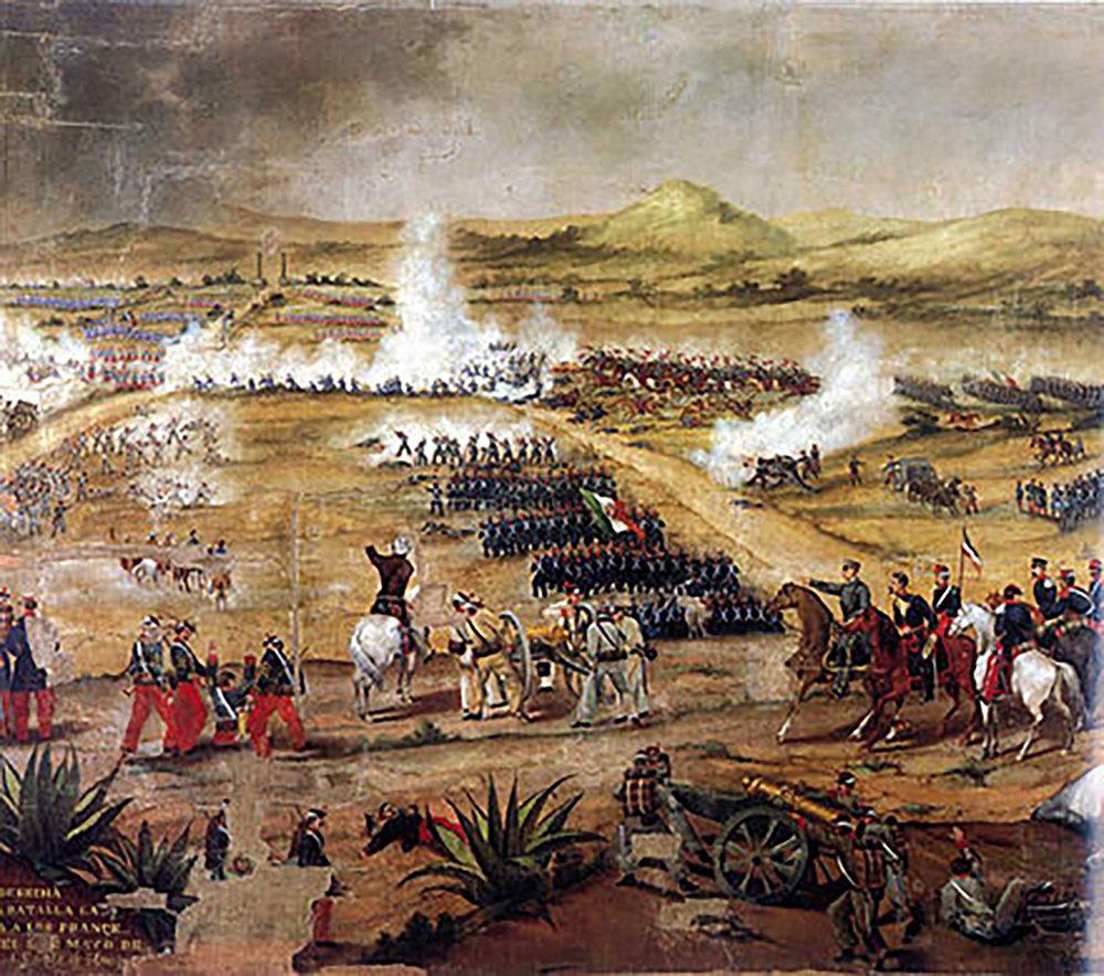 Battle of Puebla:  en.wikipedia.org . Right:  britannica.com .