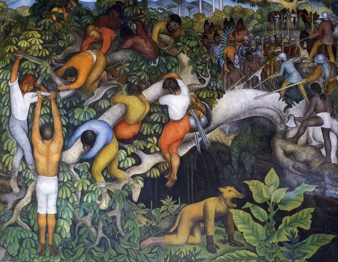 Diego Rivera: Crossing the Barranca:  diegorivera.org .