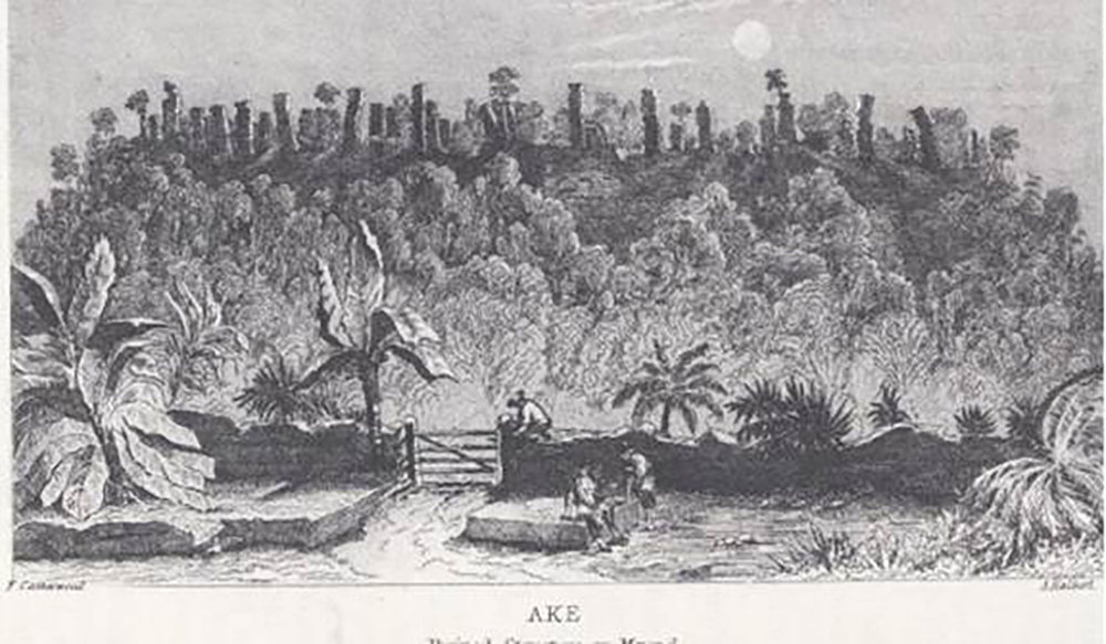 The Palace: F. Catherwood, from  Incidents of Travel in Yucatan  (scanned).