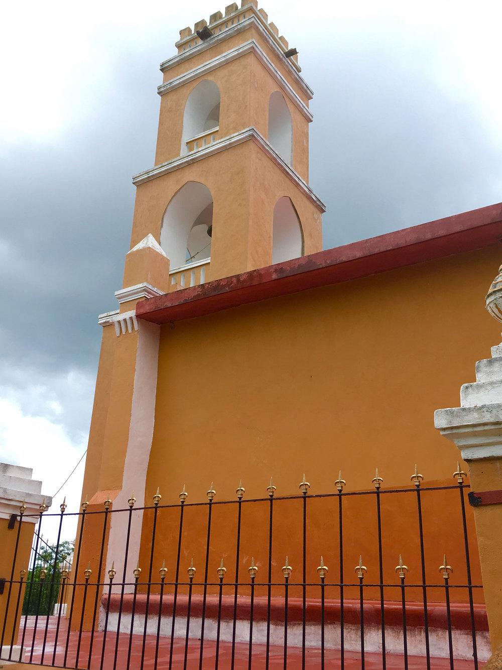 The catholic chapel at the hacienda San Lorenzo, off the ruin site.