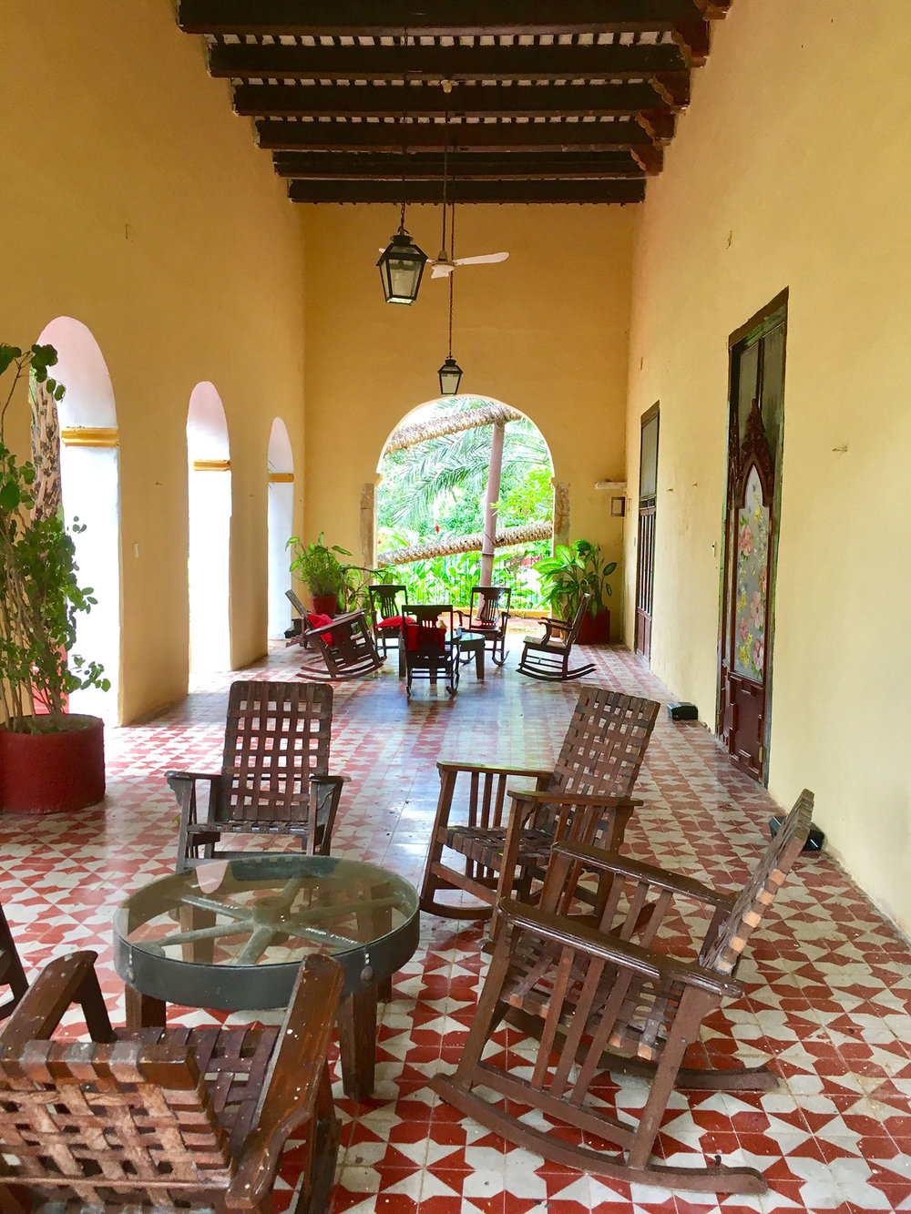 The veranda of the main house.