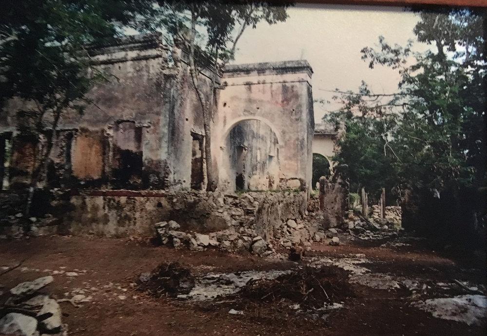 The old hacienda wall.