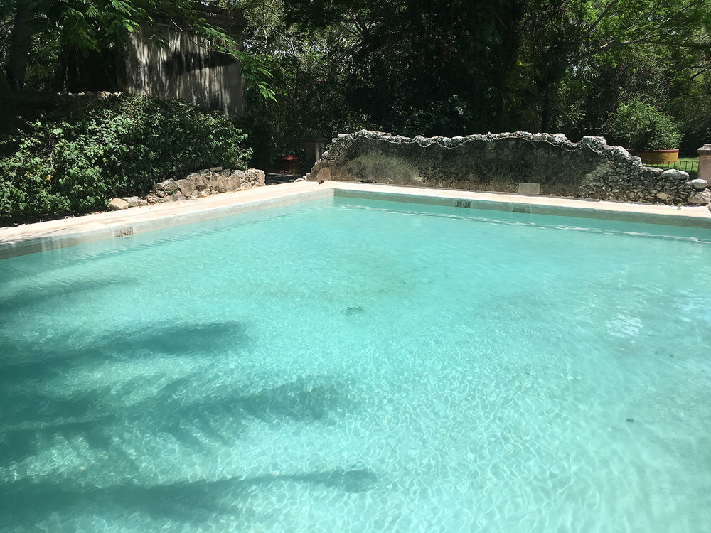 The second pool behind the main house.