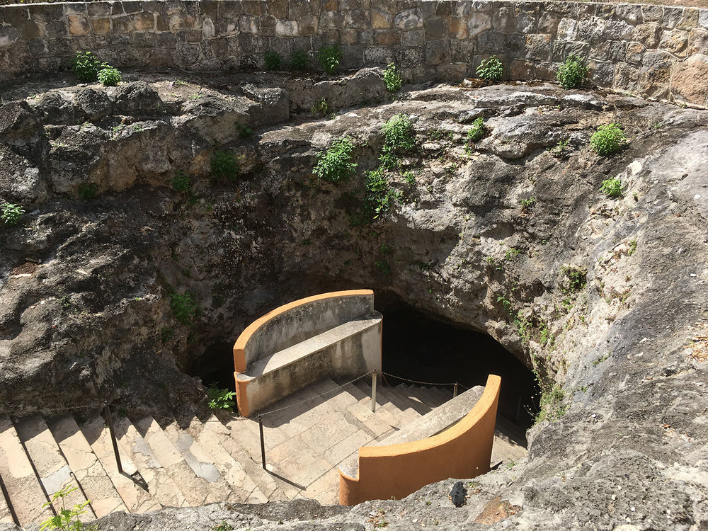 The entrance to the cave.