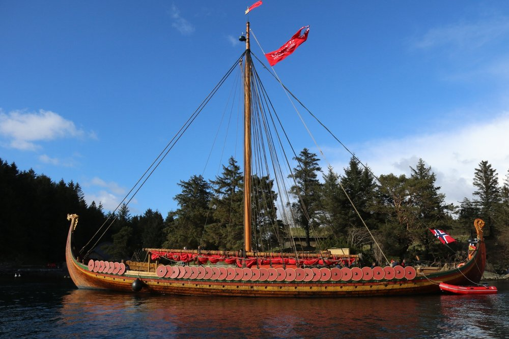 An image of a Viking ship used to describe the Follow the Vikings project