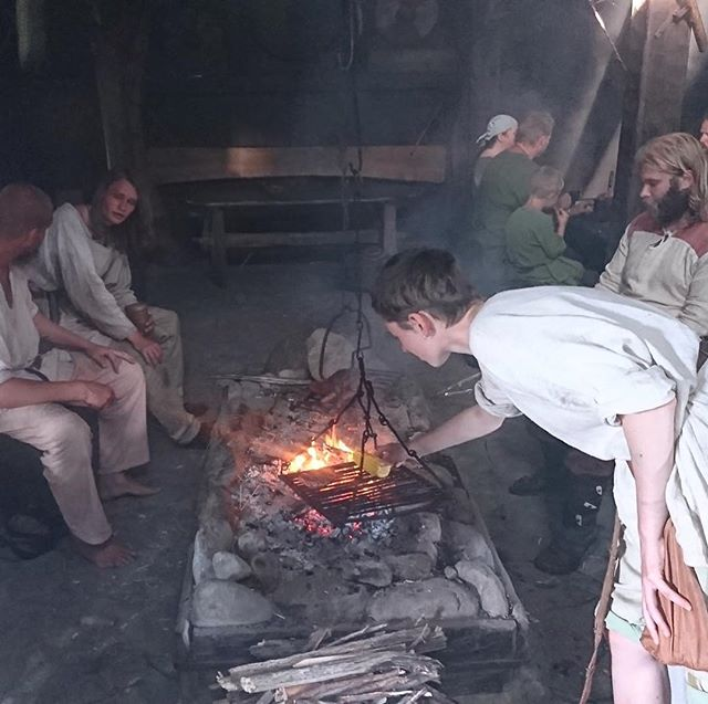Have you ever considered becoming a Viking?  Each summer @fotevikens hosts Vikings, who stay for a month living as the Vikings did.  Photo by Thomas Olsen #followthevikings #thestoryteller #foteviken #digitaldetox #slowtourism #vikinglife #vikinglonghouse #digitaldetoxchallenge