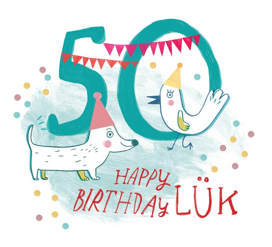 """50 Jahre LÜK! Vignette für den Geburtstag des Lernspiels """"LÜK"""""""