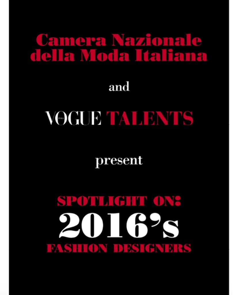 VOGUE TALENTS - SEPTEMBER 2016