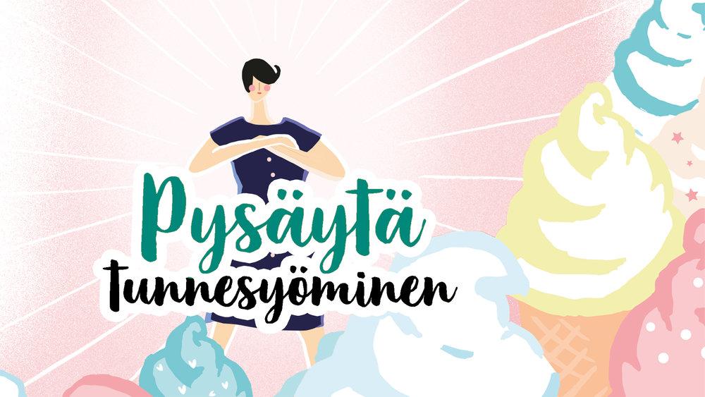 Kuvitus Ina Majaniemi, kirjasta Pysäytä tunnesyöminen