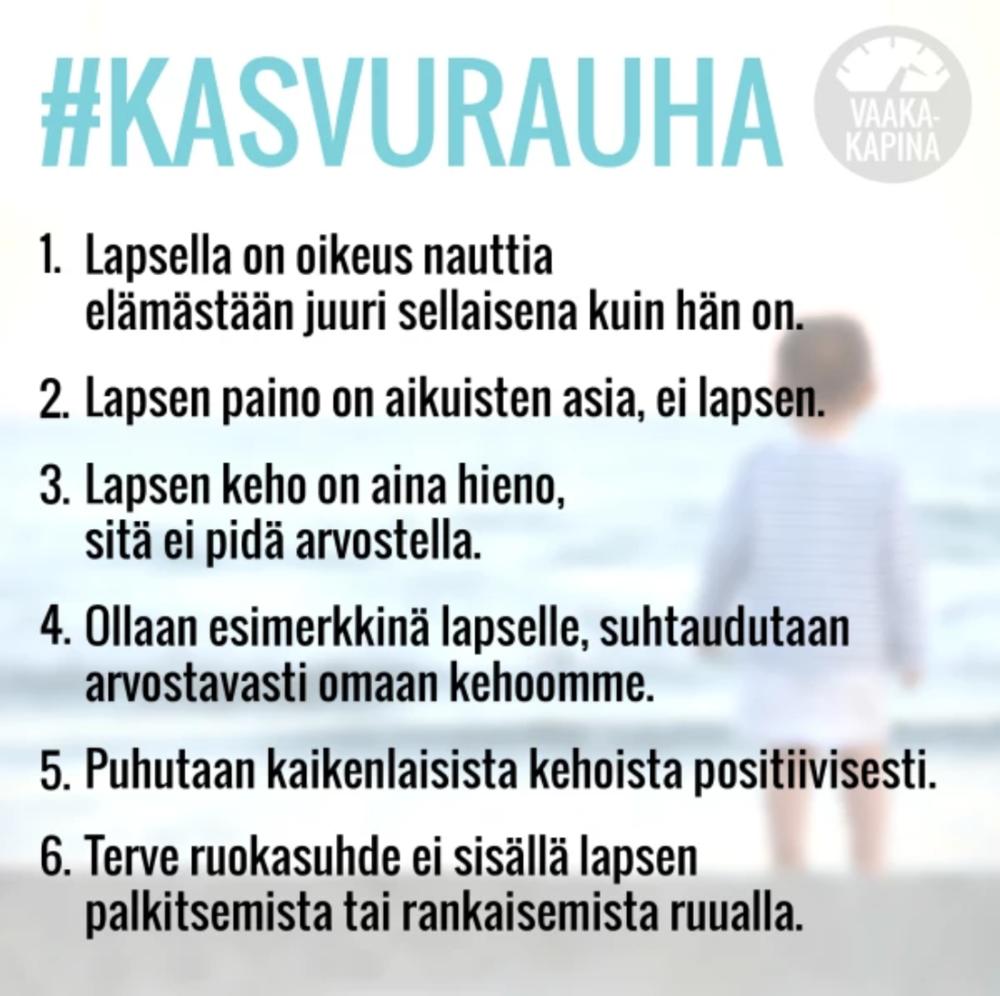Kuva Annukka Palmén-Väisänen, otettu Vaakakapinan sivuilta www.yle.fi/vaakakapina, osoitteesta:  https://yle.fi/aihe/artikkeli/2017/04/03/vaakakapina-julistaa-kasvurauhan-lapsen-paino-aikuisten-asia