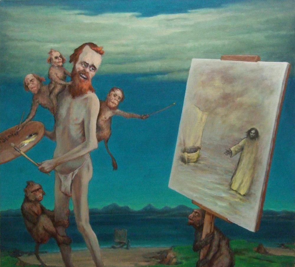 "Painter Christ Charon 32 x 35"" 2013"