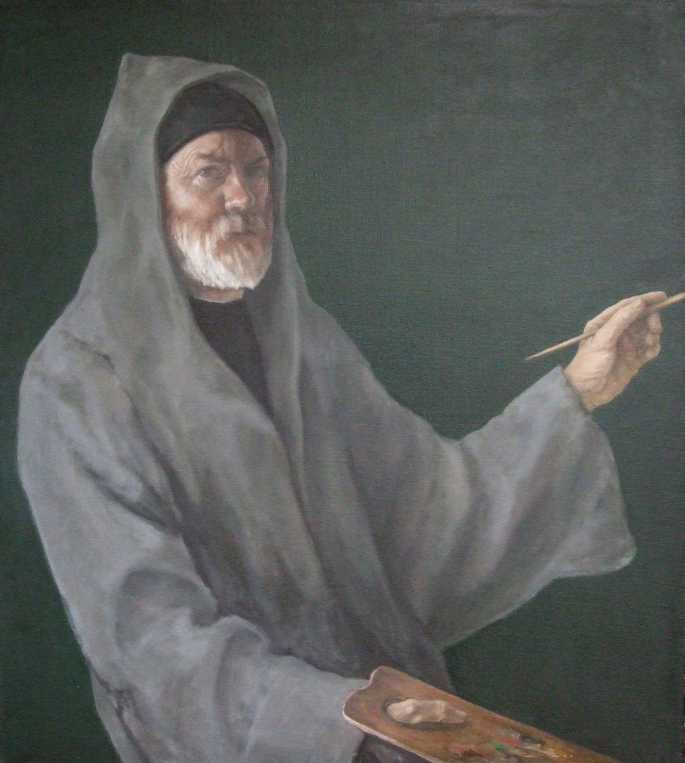 """Self Portrait as St. Luke 39 x 36"""""""