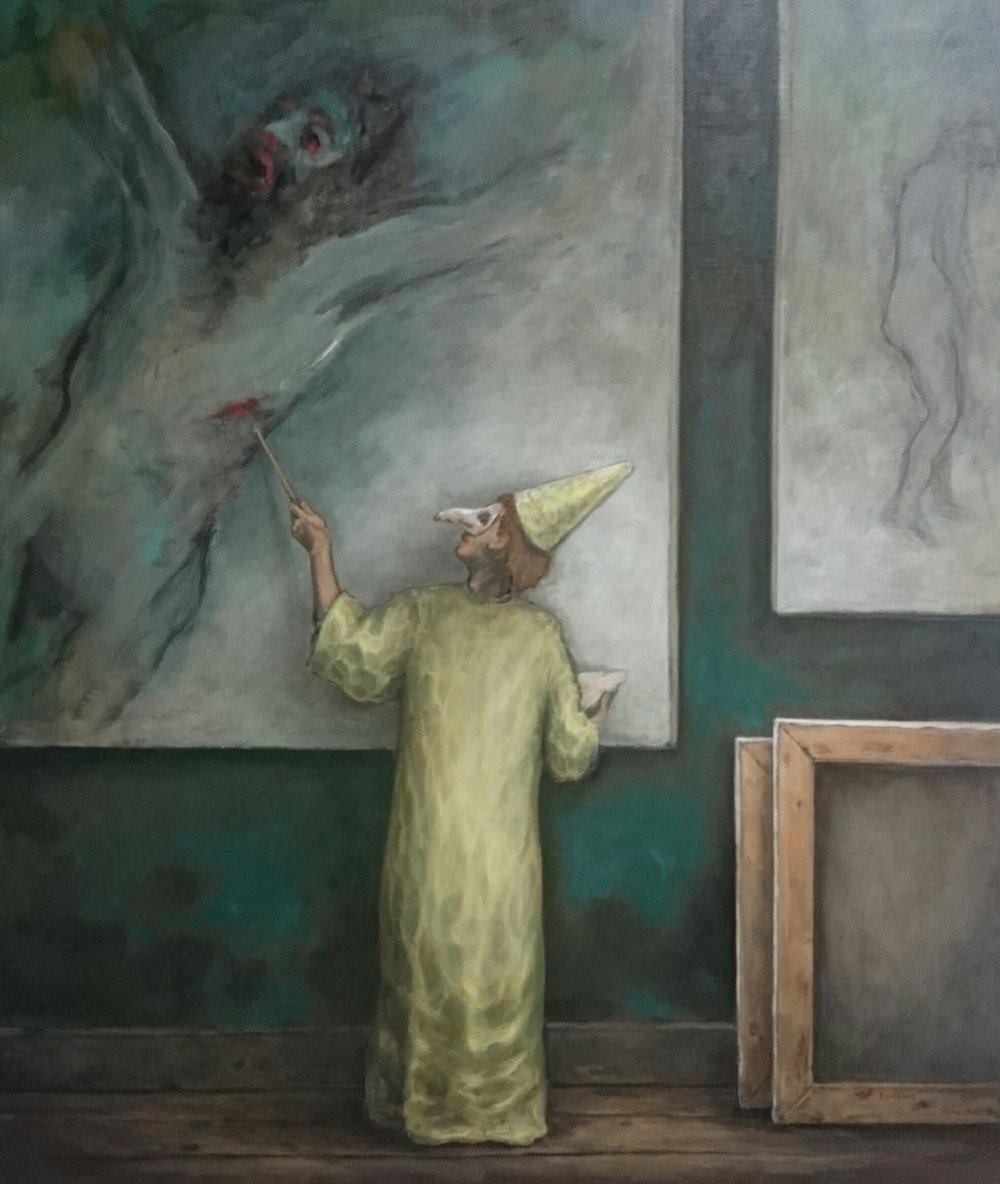 """Il Pagiliaccio 36 x 42"""" 2016"""