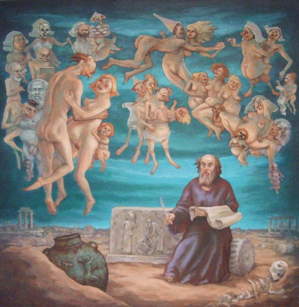 """The Philosopher 52 x 53"""" 2010"""