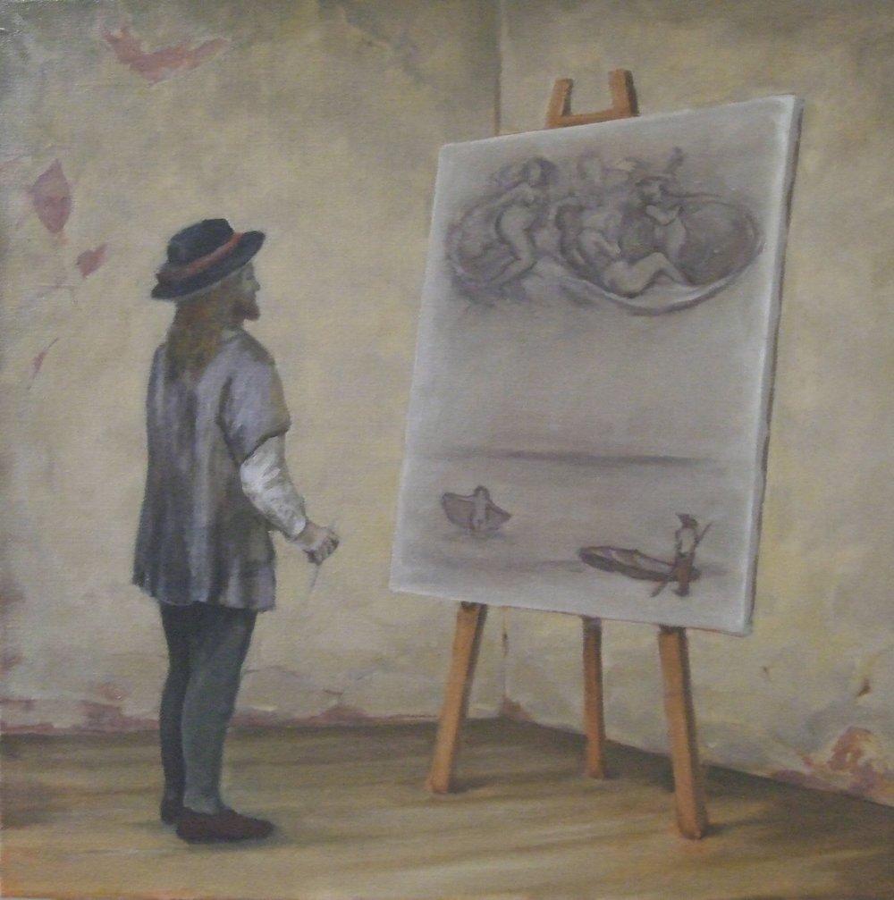 "The Painter in his Studio 31 x 31"" 2009"