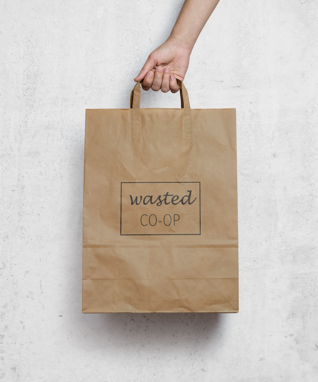 wasted co-op branding, identity, web design