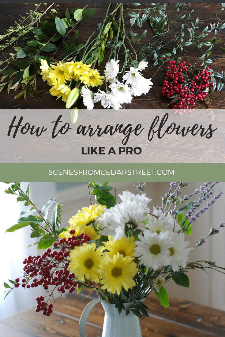 Flower Arranging in 5 easy steps