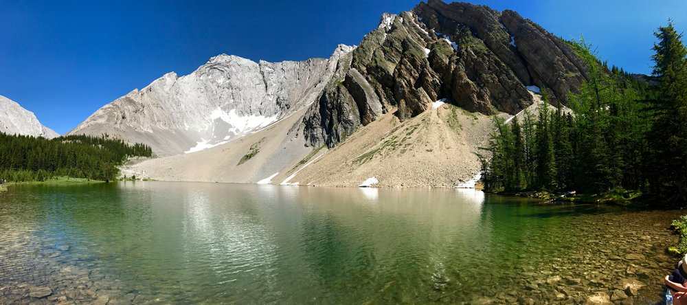 A beautiful glacier lake after an almost three hour hike
