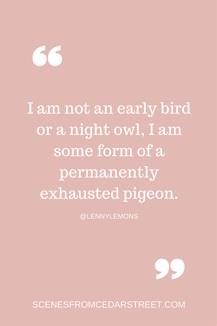 I am not an early bird or a night owl, I am some form of a permanently exhausted pigeon..png