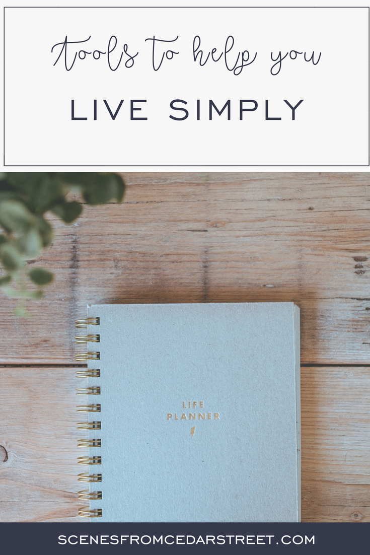 tools to help you live simply