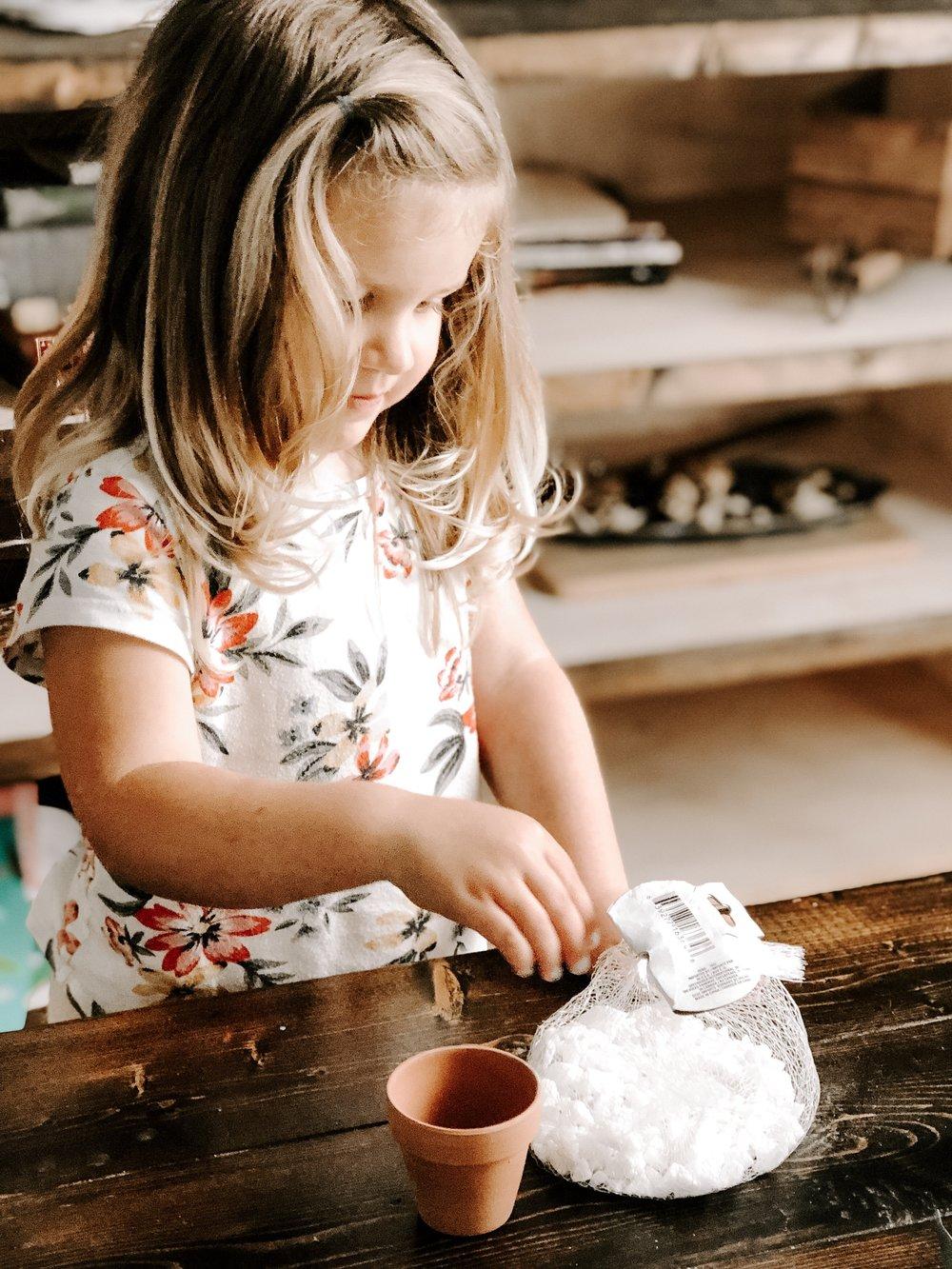 Toddler making craft