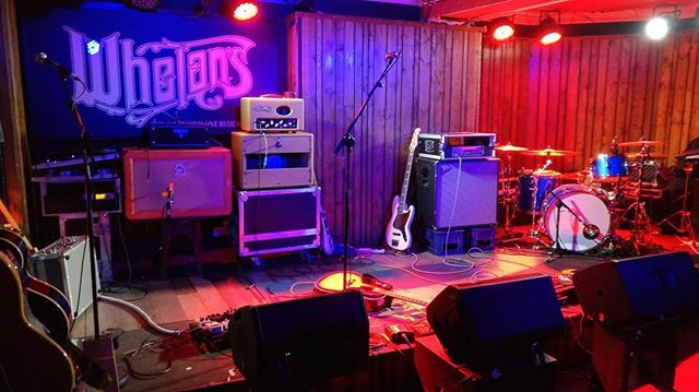 All set up. It's nearly show time. @aaronnestor_music on now. @tadghofficial at 9. And the roof comes off at 9.50
