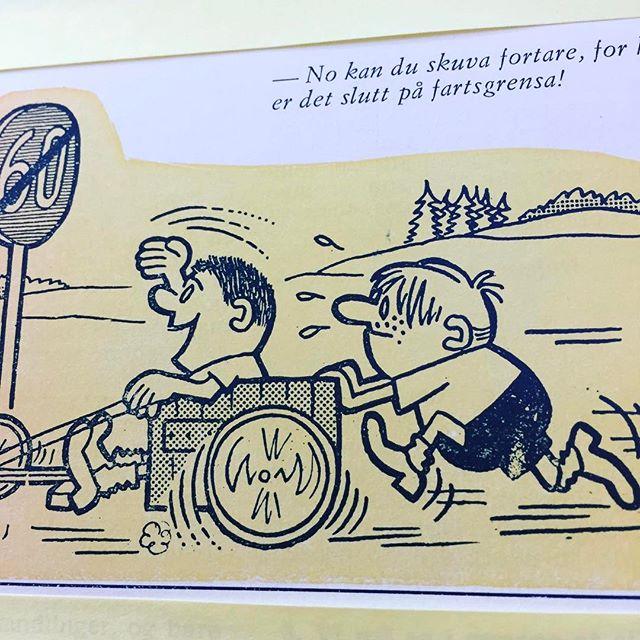 Ta det roleg i påsketrafikken! #nynorsk #syttitalshumor #norskbarneblad #påske #trafikk