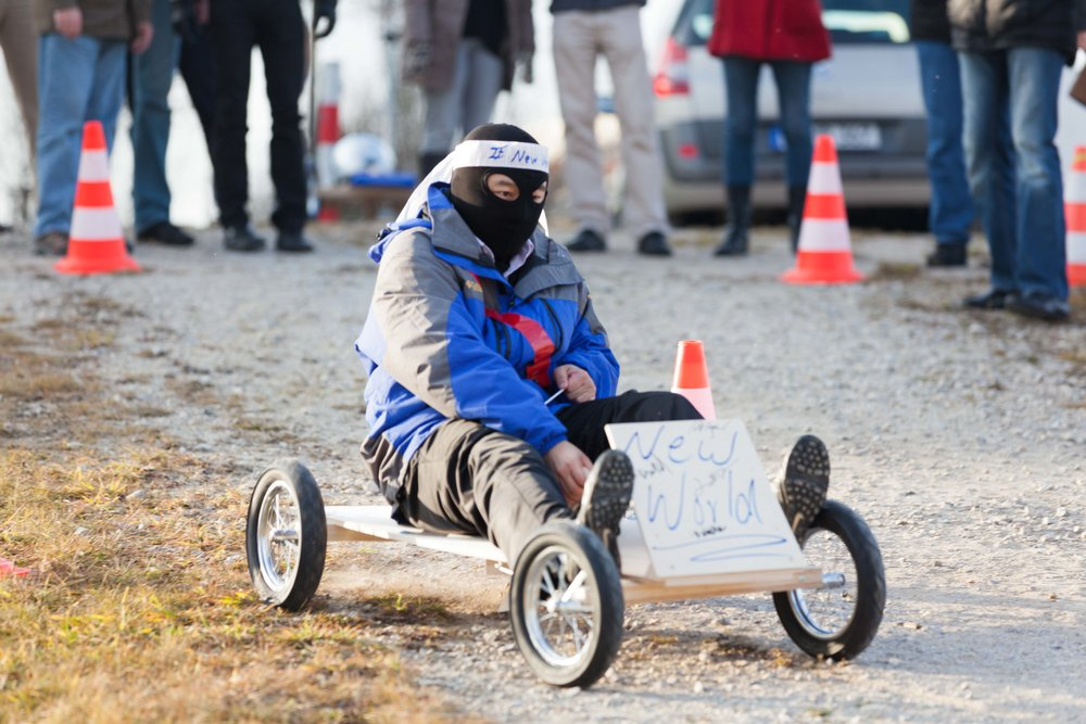 Competing in teams to build and run soapbox racers develops interpersonal skills.