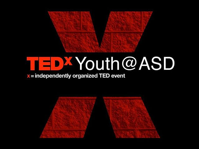 TEDxYouth@ASD is back for another year! Join us as a student speaker for the 2019 event: link in bio 📬