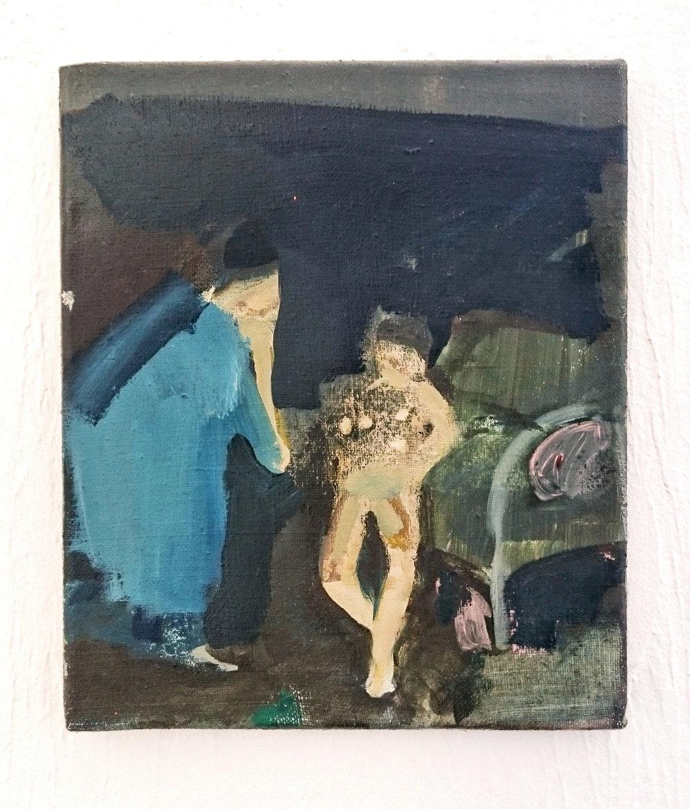 Aki Ilomäki 2005 oil on canvas 35 x 26 cm