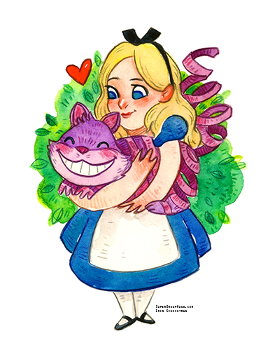 alice in wonderland hug super group hugs