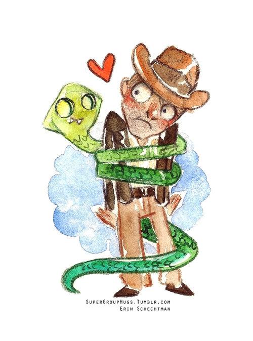 Indiana Jones & Snake HUG