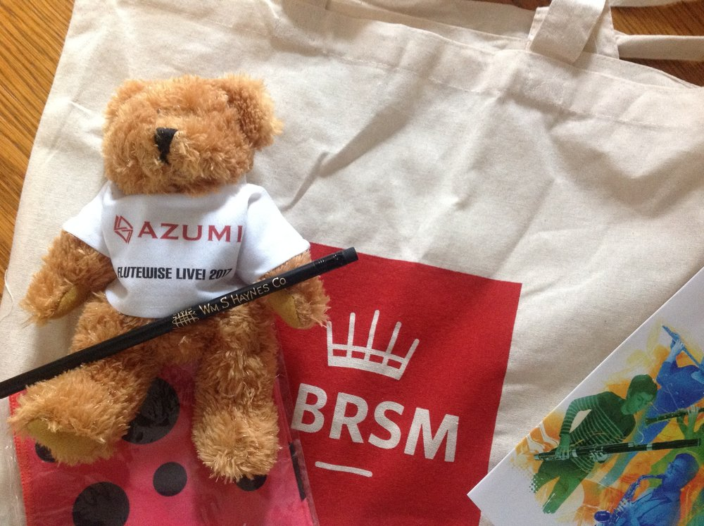 Every flute choir member in our competition won a goody bag with a Haynes pencil, a Beaumont cleaning cloth and this adorable Azumi bear