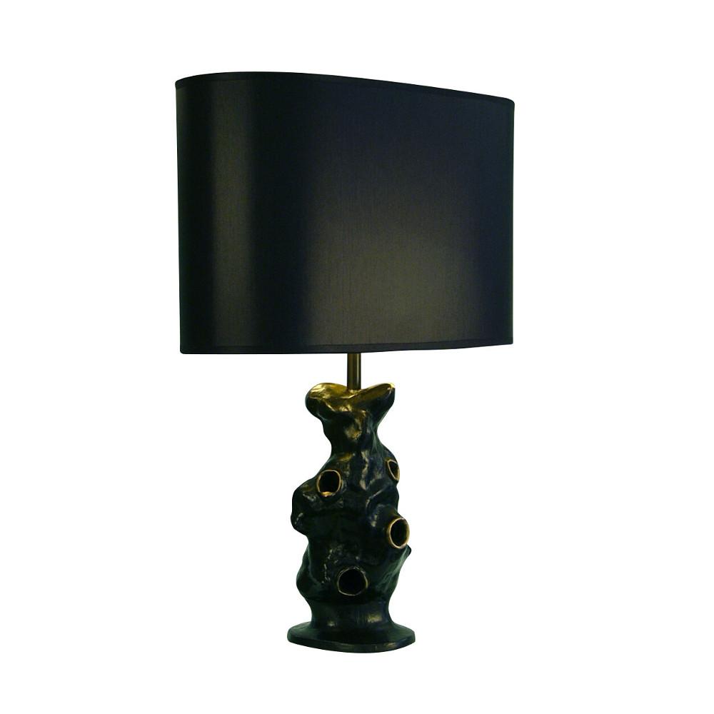 Meteorite bronze lamp