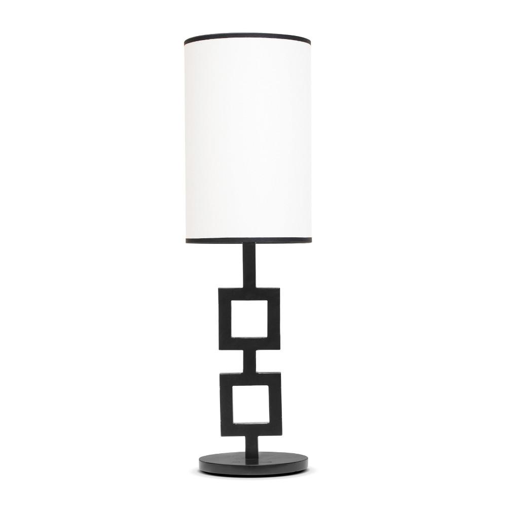 2 Carrés lamp in black
