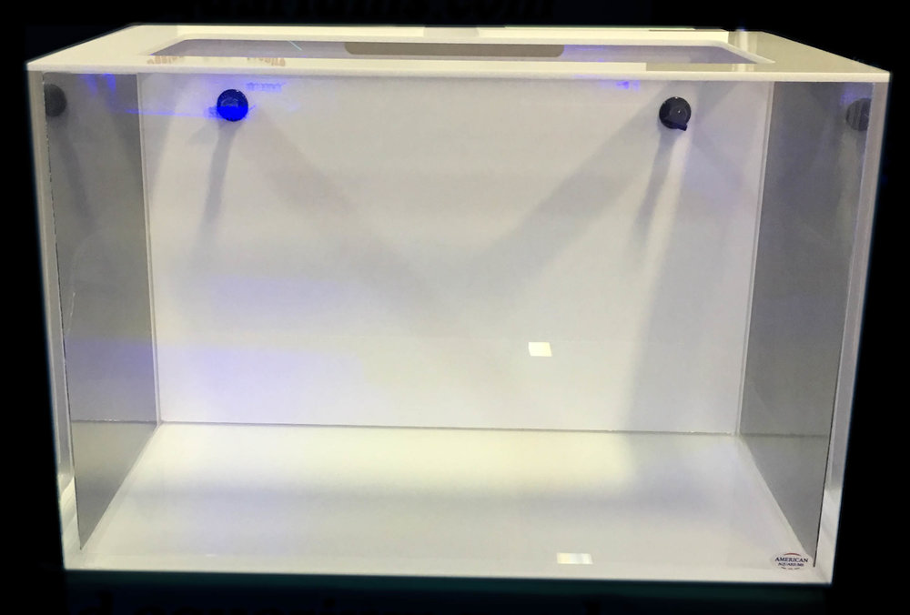 Reef Ready Aquariums - Reef Ready aquariums have an overflow box (internal or external) and allows water to drain into a sump filter located underneath the aquarium.  Typically used in saltwater applications.