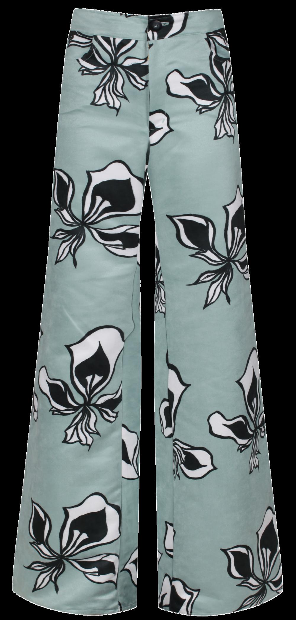 Luna PRINT Trousers - IRIS - SHOP NOW