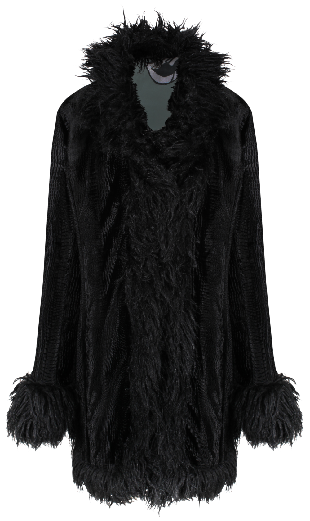 Himalia Coat Black TEXTURE x IRIS - SHOP NOW